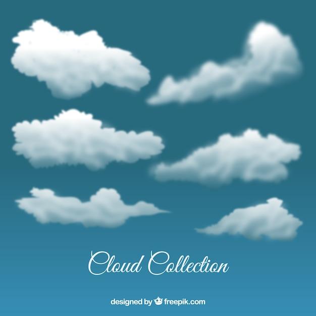 Les nuages dans le style réaliste Vecteur gratuit
