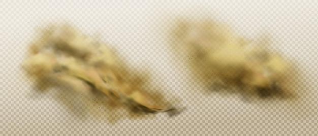 Nuages De Poussière Sale De Sable Et De Sol Volant Vecteur gratuit