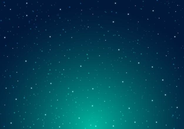 Nuit brillante ciel étoilé avec fond espace étoiles Vecteur Premium
