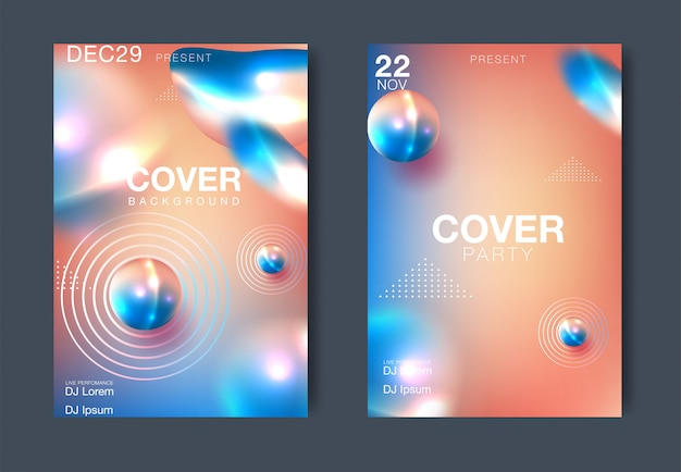 Nuit électro et conception de modèle d'affiche fête électro. fond de club de musique. illustration vectorielle Vecteur Premium