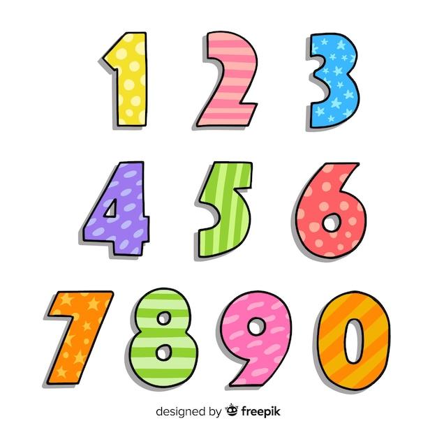 Numéro collection Vecteur gratuit