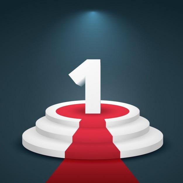 Numéro un de conception 3d Vecteur gratuit