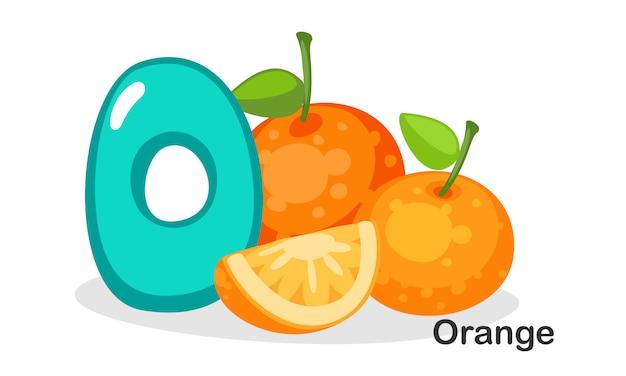 O pour orange Vecteur Premium