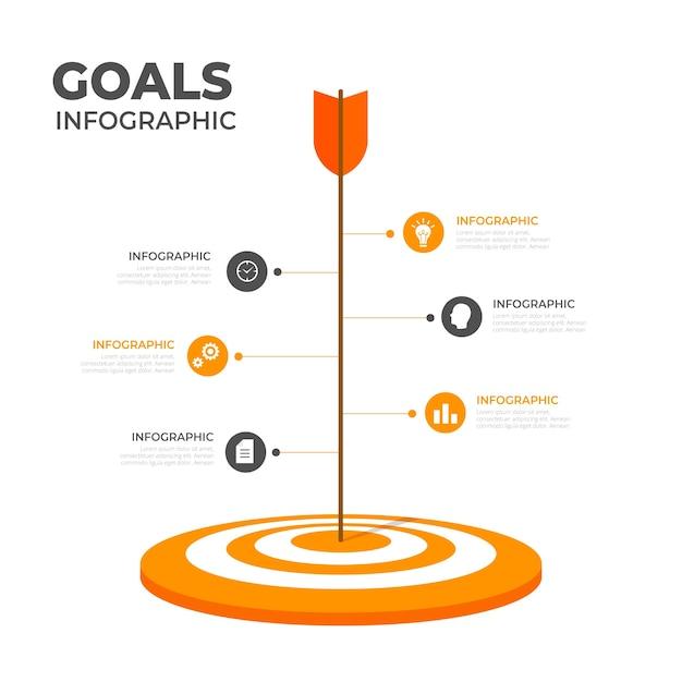 Objectifs Infographiques Vecteur gratuit
