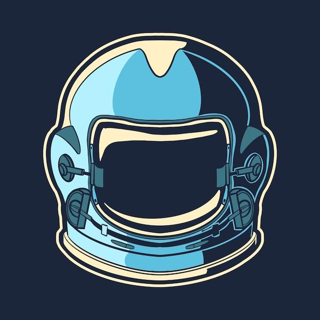Objet De Conception De Casque D'astronaute Vecteur Premium