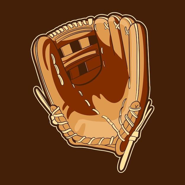 Objet D'illustration De Gants De Baseball Vecteur Premium