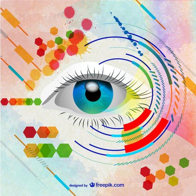 Oeil de femme illustration de l'art Vecteur gratuit
