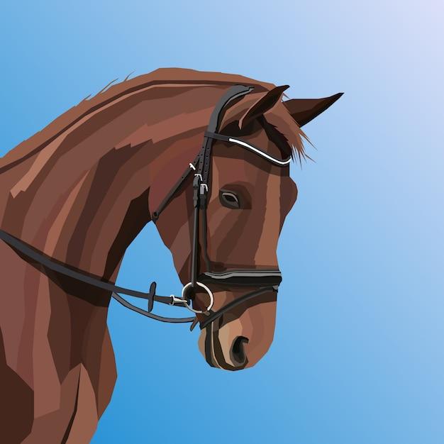 Oeuvre créative cheval pop art vectoriel Vecteur Premium