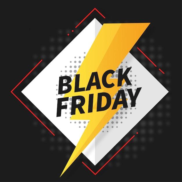 Offre flash black friday banner Vecteur gratuit