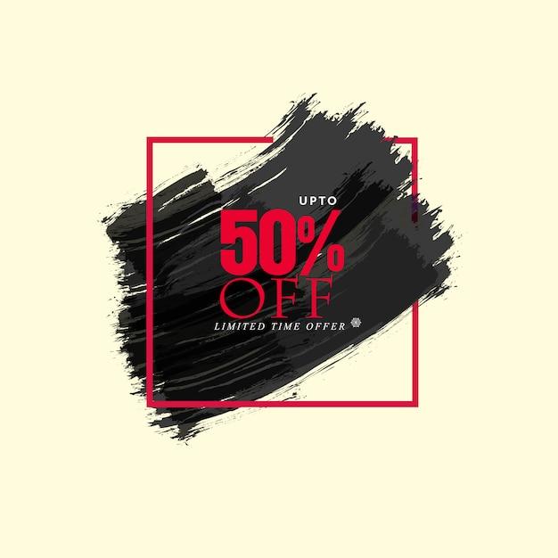 Offre limitée couleur de l'eau fond noir Vecteur Premium