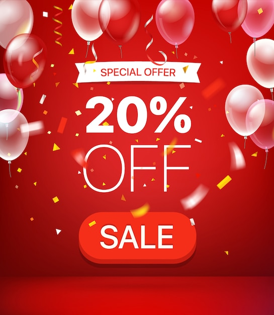 Offre Spéciale: 20% De Réduction Sur La Bannière Vecteur Premium