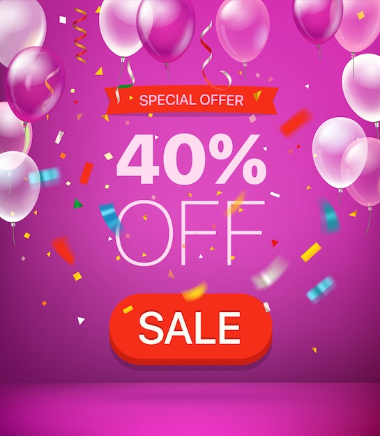 Offre spéciale: 40% de réduction sur la bannière Vecteur Premium