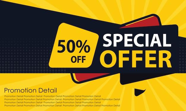 Offre spéciale bannière de vente Vecteur Premium