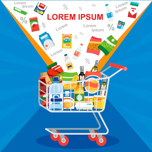 Offre spéciale sur le concept de vecteur de vente de supermarché Vecteur Premium