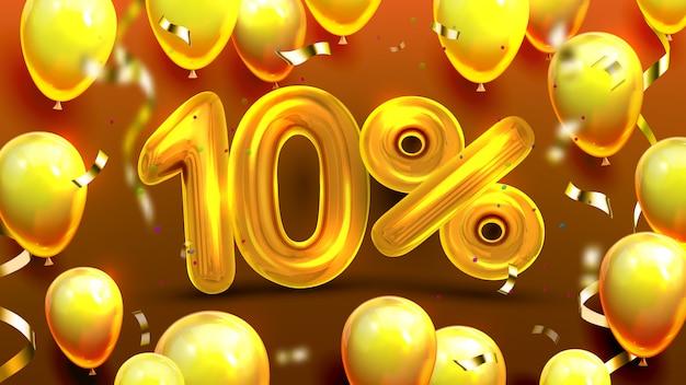 Offre spéciale marketing de dix pour cent ou dix Vecteur Premium