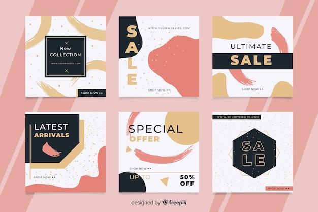 Offre de vente en ligne après collection instagram Vecteur gratuit