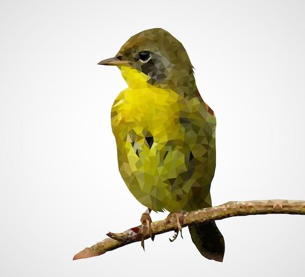 Oiseau Polygonal Coloré Vecteur Premium