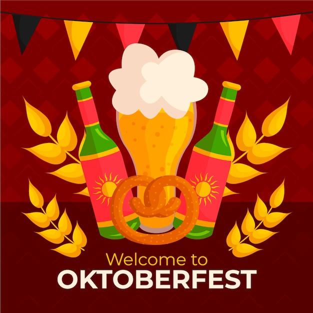 Oktoberfest Dessiné à La Main Vecteur gratuit
