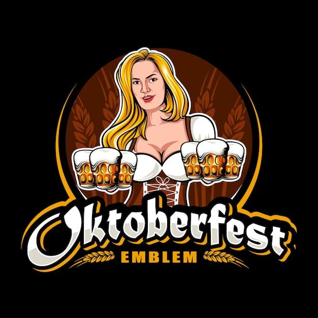 Oktoberfest logo Vecteur Premium