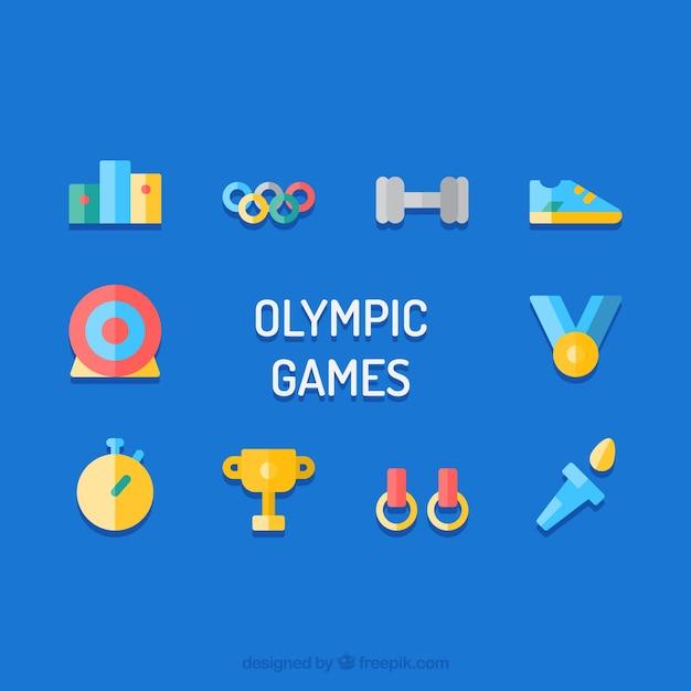 Olympique éléments vectoriels Vecteur gratuit