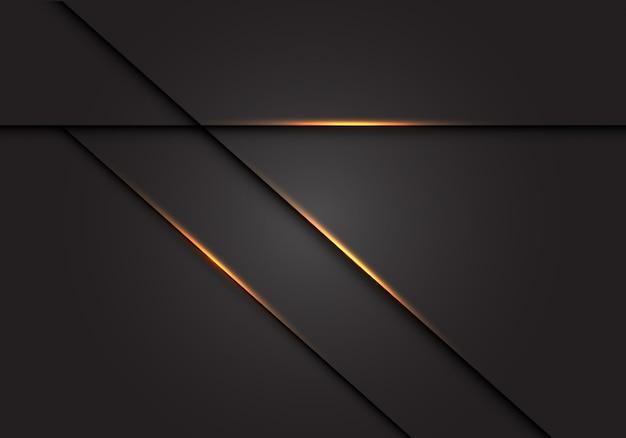 Ombre de ligne de lumière dorée sur fond gris foncé. Vecteur Premium