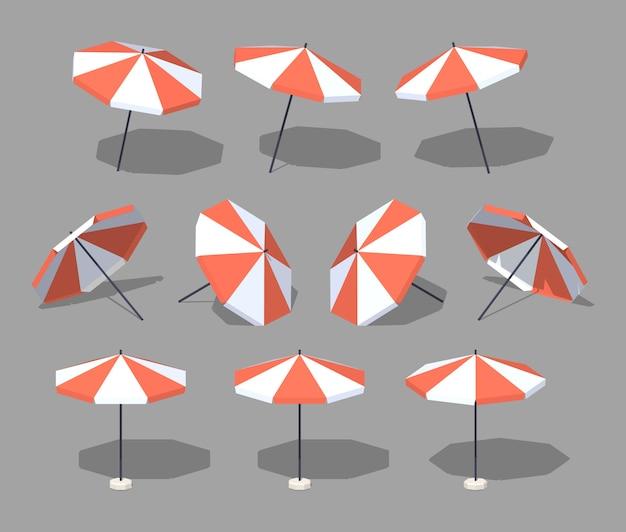 Ombrelle. illustration vectorielle isométrique lowpoly 3d. Vecteur Premium