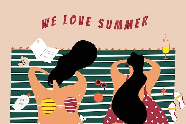On aime l'été Vecteur gratuit