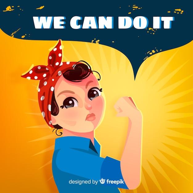 On peut le faire! contexte Vecteur gratuit