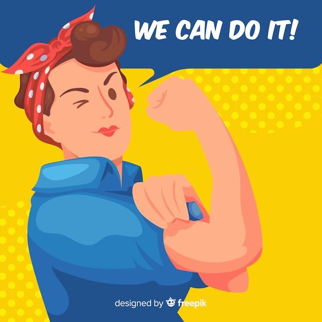On peut le faire! Vecteur gratuit
