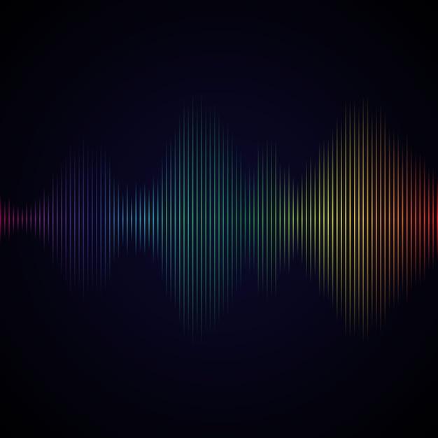 Onde sonore multicolore de l'égaliseur Vecteur Premium