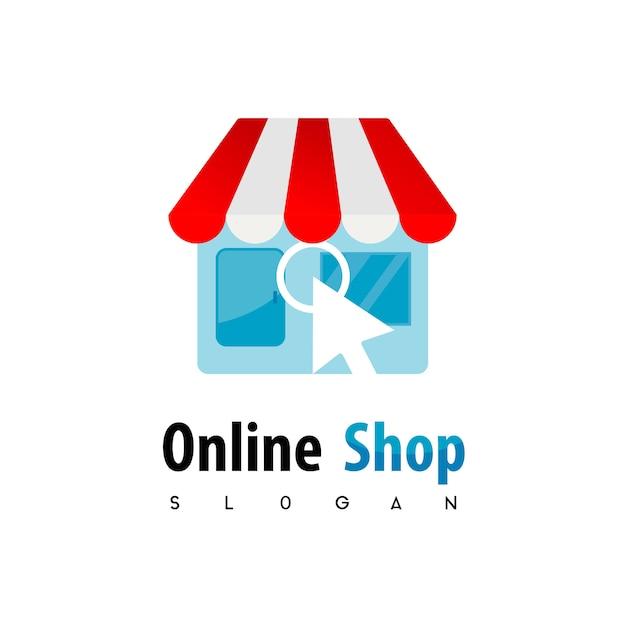 Onlineshop logo dsign inspiration Vecteur Premium
