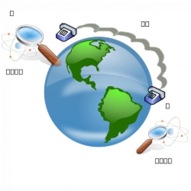 Opérations locales et de la communication classique Vecteur gratuit