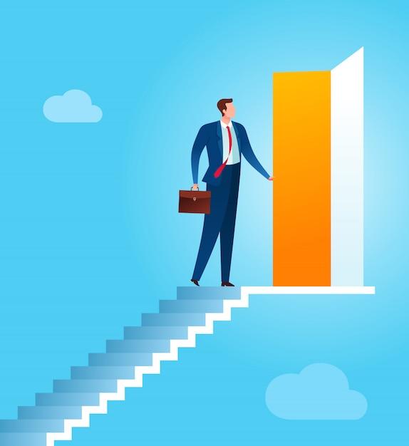 Opportunité d'affaires pour un avenir meilleur Vecteur Premium