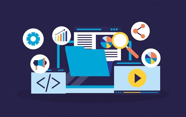 Optimisation du moteur de recherche Vecteur gratuit