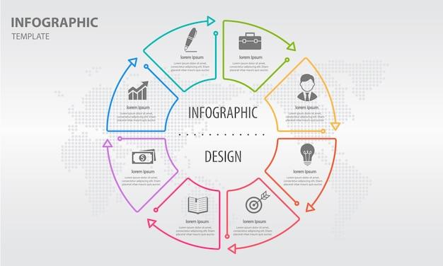 Options De Cercle Abstrait Infographique 8 Vecteur Premium