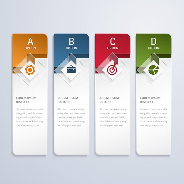Options d'infographie de l'entreprise moderne Vecteur Premium