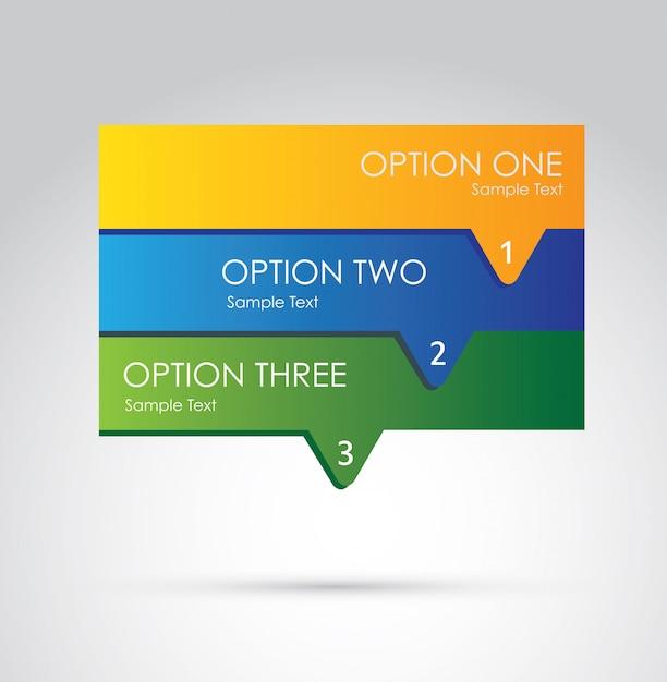 Options d'infographie Vecteur Premium