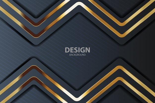 Or abstrait avec des lignes dorées Vecteur Premium