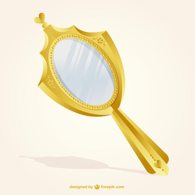 Or miroir isolé Vecteur gratuit