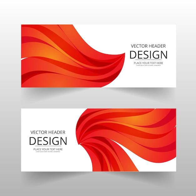 Orange Abstract Banner Vecteur gratuit