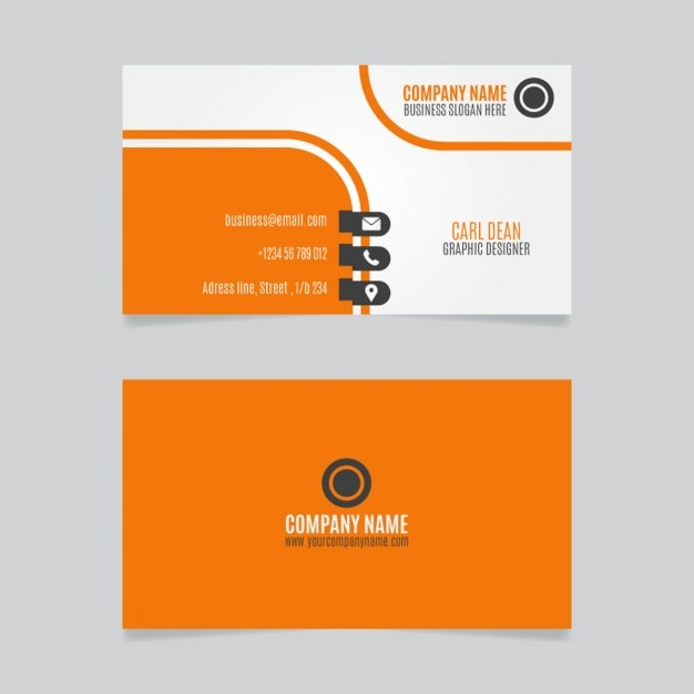 Orange Conception De Carte Visite Curvy