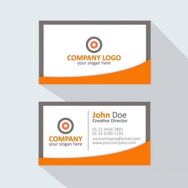 Orange et carte de visite grise t l charger des vecteurs gratuitement - Bureau des cartes grises ...