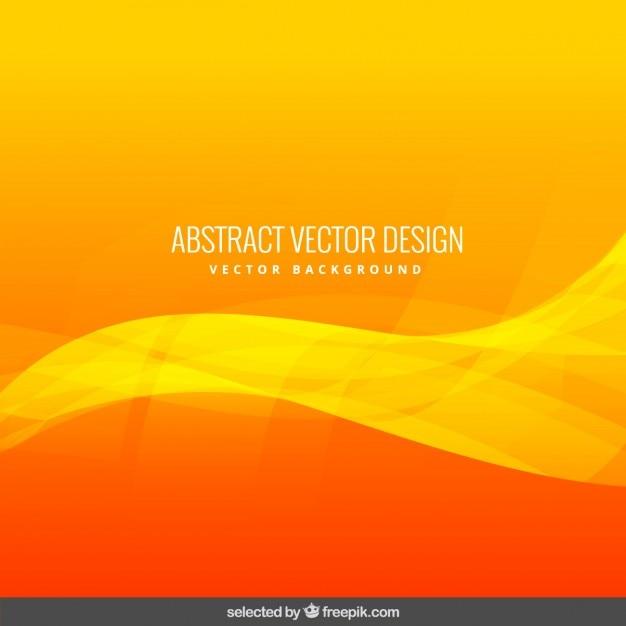 Orange fond abstrait ondulés Vecteur gratuit