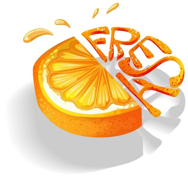 Orange Vecteur gratuit