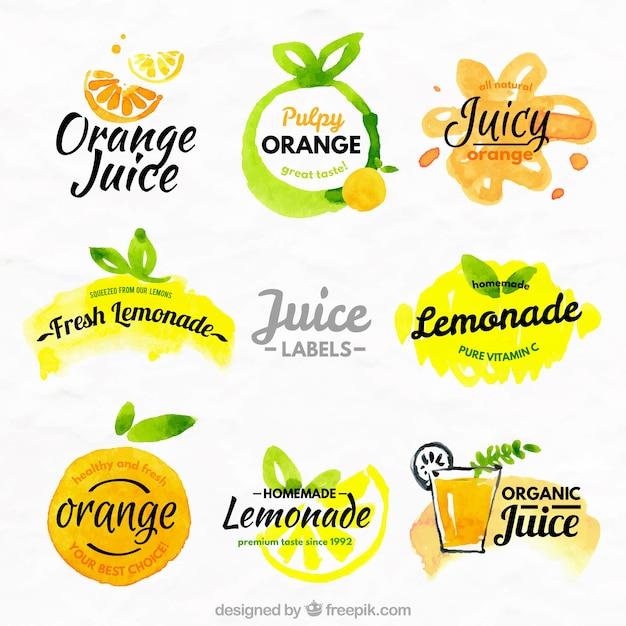 Oranges Et Citrons étiquettes Vecteur Premium
