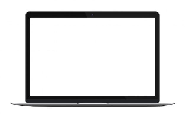 Ordinateur portable moderne ultrabook isolé Vecteur Premium