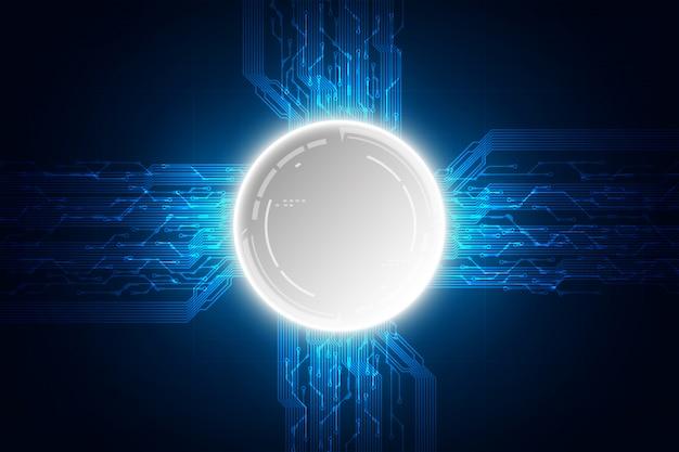 Ordinateur de technologie de vecteur Vecteur Premium