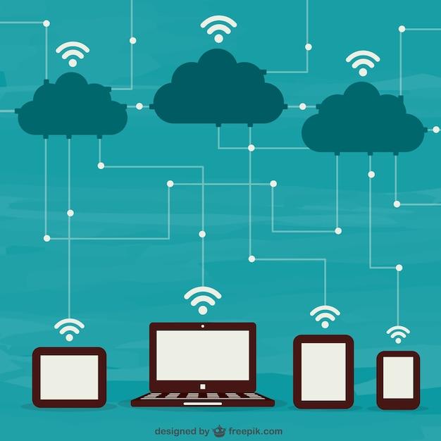 ordinateurs et nuages