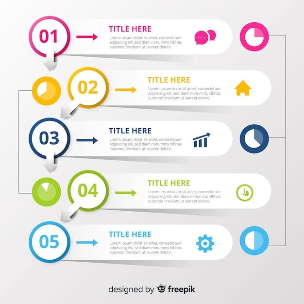 Organigramme infographique Vecteur gratuit