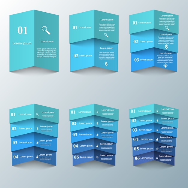 Origami d'affaires infographie Vecteur Premium